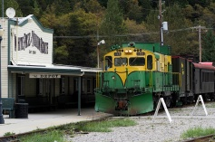 The White Pass & Yukon railway still runs as a tourist attraction.