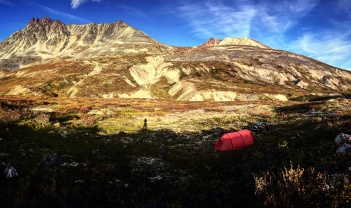 Camped near Chilkat Summit on the Haines Highway.