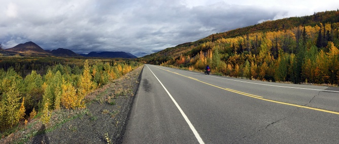 Panorama along the St. Elias and Kluane Mountains.
