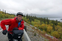 On the Klondike Highway above Tagish Lake.