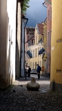 The light falls in the narrow streets in unexpected ways.