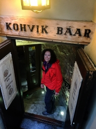Going down to have a drink in a 500-year-old tavern.
