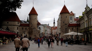 The main gate into old town.